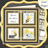 YOU'RE THE BEE'S KNEES Squares 7.5 Quick Layer Card & Insert Kit