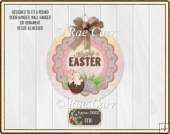S005 Easter Chick Sign Printable PNG for Round Sublimation Blank
