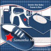 Denim Star Baby Trainer & Gift Box Keepsake