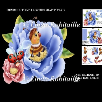 Bumble Bee And Ladybug Shaped Card