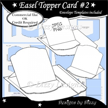 Easel Topper Card Template #2
