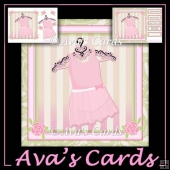 Pretty Hanger Dress Card