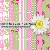 English Rose Garden Digital Paper Pack {A4 Size}