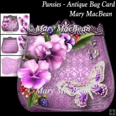 Pansies - Antique Bag Card