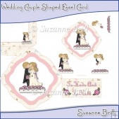 Wedding Couple Shaped Easel Card