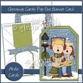 Christmas Carols Pop Out Banner Card