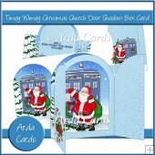 Timey Wimey Christmas Church Door Shadow Box Card