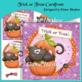 Trick or Treat Cardfront with Decoupage