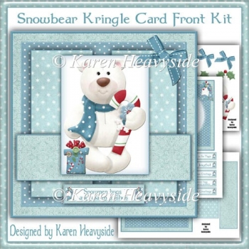 Snowbear Kringle Card Front Kit