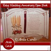 Ruby Wedding Anniversary Open Book