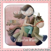 Saddle Up Your Pony Girls Shaped Fold Card Kit