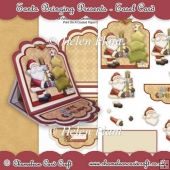 Santa Bringing Presents - Easel Card