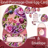 Easel Pyramage Card Pink Rose