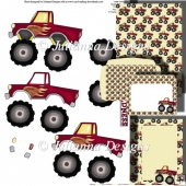 Monster Truck Madness Decoupage Set