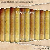 Grunged Debossed Christmas 8x8 Papers