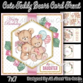 Cute Teddy Bears Card Front 7x7