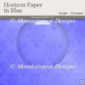 Horizon Paper in Blue