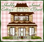 Shabby Sweet Cottage Clipart