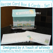 Recipe Card Box & Cards - Set 1