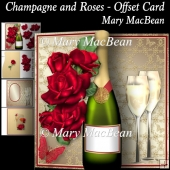 Champagne and Roses - Offset Card
