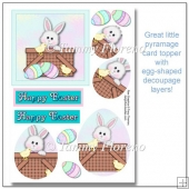 Easter Bunny Basket Egg-Shaped Pyramage Topper