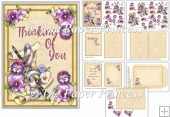 Thinking Of You Card With Inserts and Envelope