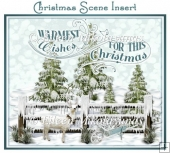 Warmest Wishes Christmas Scene Card Insert