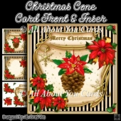 Christmas Cone Card Front & Insert