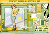 Teen Text Dudess 4 Sheet Mini Kit
