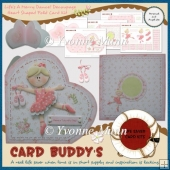 Life's A Merry Dance! Decoupage Heart Shaped Fold Card Kit