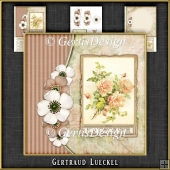 Vintage Flowers and Butterflies Card Kit 1065