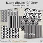 Many Shades Of Grey Overlays/Papers