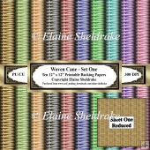 Woven Cane - Set One - Pastel - Ten 12 x 12 Printable Paper