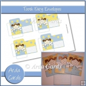 Blue & Yellow Girl Tooth Fairy Envelopes