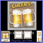 CHEERS! BEER CARD KIT, WITH MATCHING INSERTS