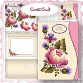 Wavy edge pink passion card set