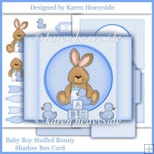 Baby Boy Stuffed Bunny Shadow Box Card