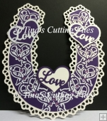 Bridal / Bride Wedding Horseshoe - Ornate Hearts theme and box