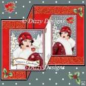 Art Deco Christmas Lady