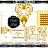 FOLK HEART WEDDING PRINTABLES: GOLD
