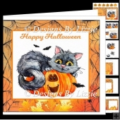Halloween Cat and Pumpkin Fun Halloween Mini kit