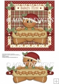 BABY'S FIRST CHRISTMAS - GINGERBREAD BOY QUICK CARD TOPPER