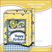 Denim & Daisies Box Card