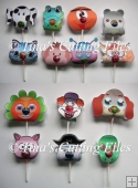 Chupa Chups Animal and Character lolly holders set of 14 jpegs