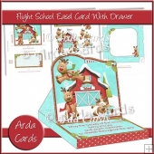 Flight School Easel Card With Drawer
