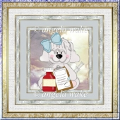Nurse puppy 7x7 card with decoupage