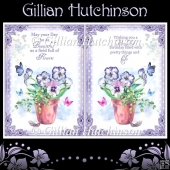 2 Pansy Birthday Card Fronts
