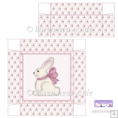 Cute Pink Easter Bunny 5x5 Box