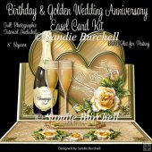 Birthday & Golden Wedding Anniversary 8 x 8 Easel Card Kit