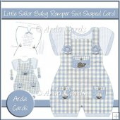Little Sailor Baby Romper Suit Shaped Card